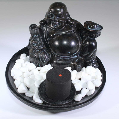 Incense Holder - Hotei Buddha