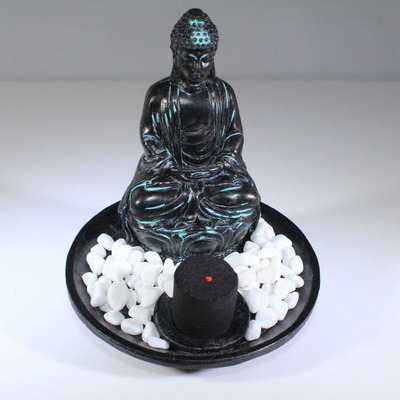 Incense Burner - Meditating Buddha