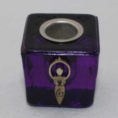 Goddess Chime/Ritual Candle Holder - Purple