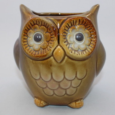 Decorative Owl Vase/Holder