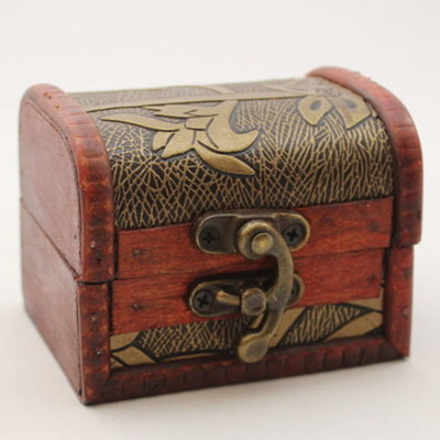 Decorative Wood Box with Latch