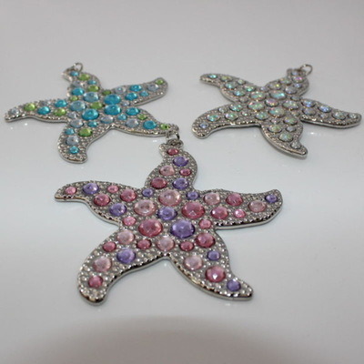 Starfish Keychain/Charm with Jewels