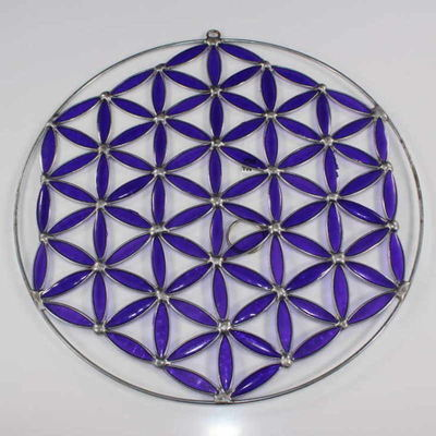 Stained Glass Flower of Life Sun Catcher