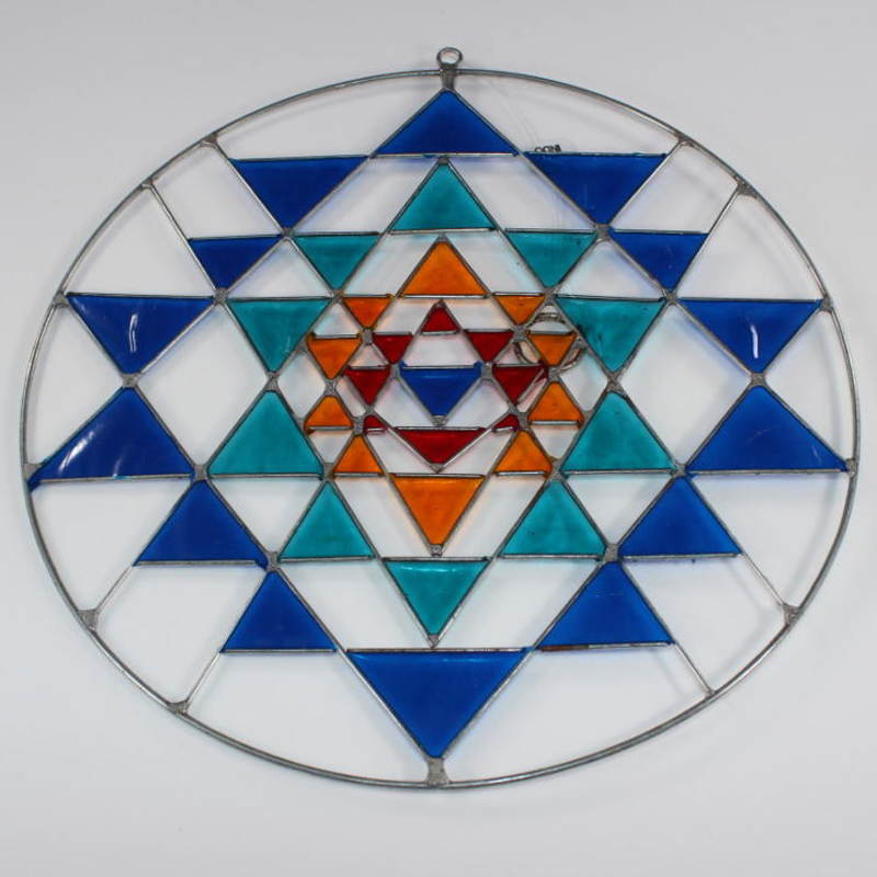 Stained Glass Sri Yantra Sun Catcher