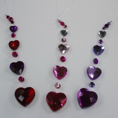 Crystal Heart Suncatchers
