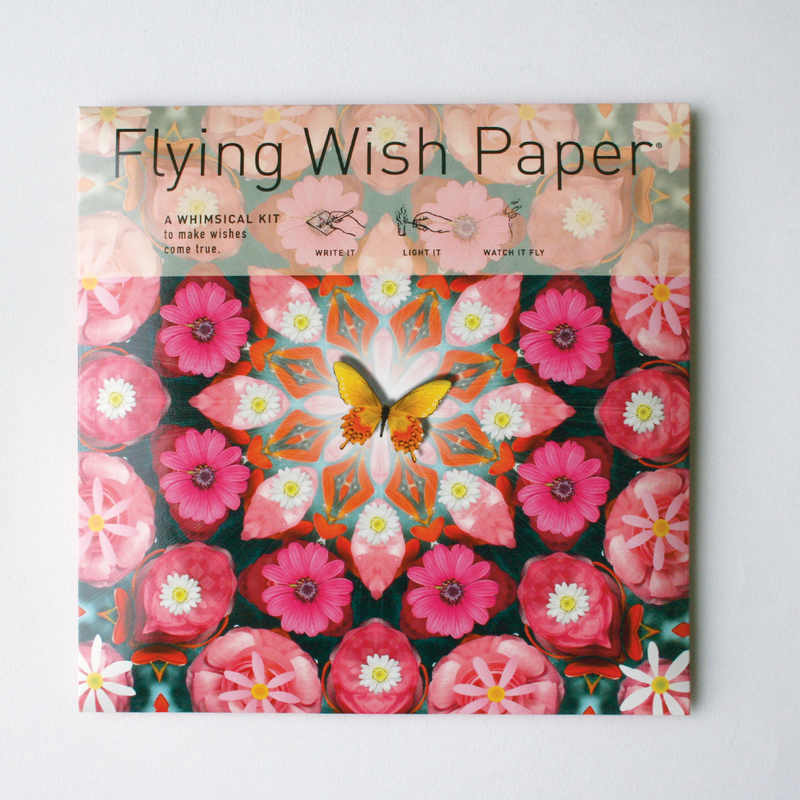 Pink Butterfly Flying Wish Paper Large Kit