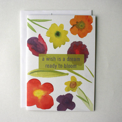 May Bouquet Flying Wish Paper Greeting Card Kit