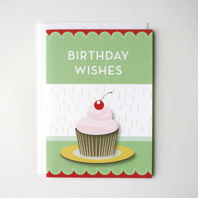 Birthday Greeting Cupcake Card Kit