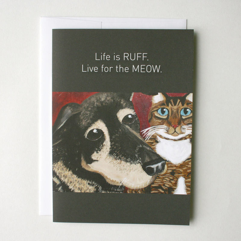 Life is Ruff Flying Wish Paper Greeting Card Kit