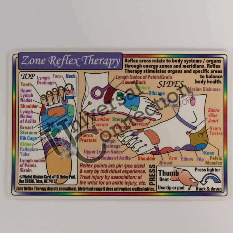 Reflex Therapy Wallet Card- Feet