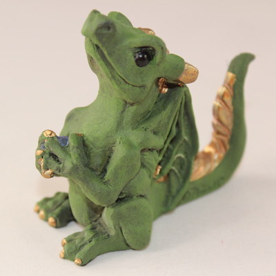 Happy Dragon Mini Statue - Mine