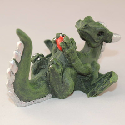 Happy Dragon Mini Statue - Shiny