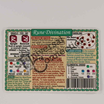 Rune Divination Wallet Card