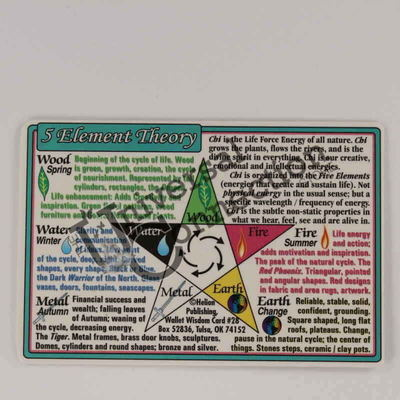 5 Elements Wallet Card