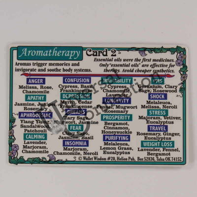 Essential Oils Aromatherapy Wallet Card