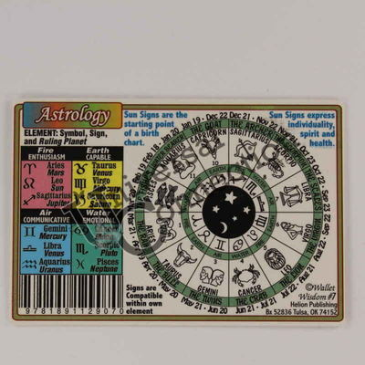 Astrology Wallet Card