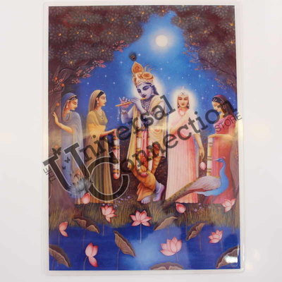 Krishna and Radha Altar Card