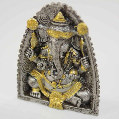 Ganesh Mini Statue - Gold and Silver