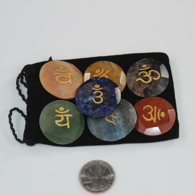 Chakra Stone Sanskrit Kit with Pouch