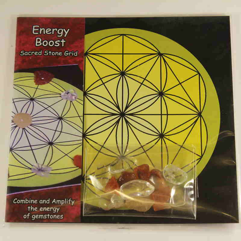 Mini Sacred Stone Grid - Energy Boost