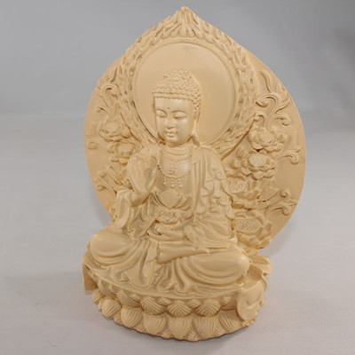 Carved Resin Buddha Statue