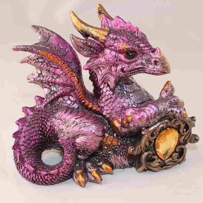 Purple Dragon with Jewel Statue