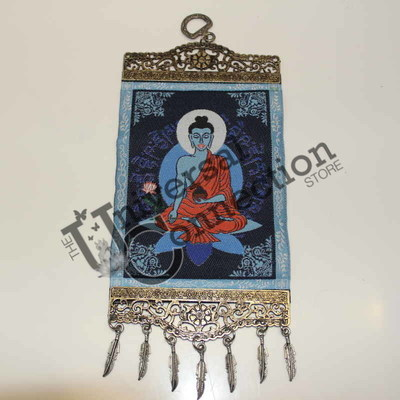Meditating Buddha Hanging Wall Carpet