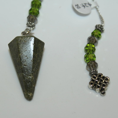 Diopside (smooth) with Charm