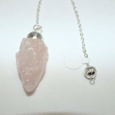 Rose Quartz (natural) with Charm