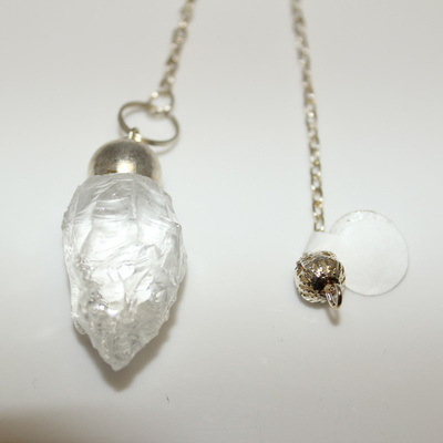 Clear Quartz (natural) with Charm