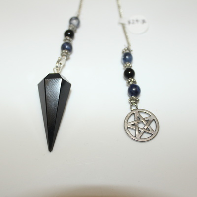 Obsidian (hexagonal) with Charm