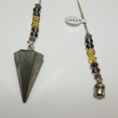 Pyrite (hexagonal) with Buddha Head Charm