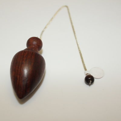 Rosewood (acorn shape) with Round Rosewood Charm