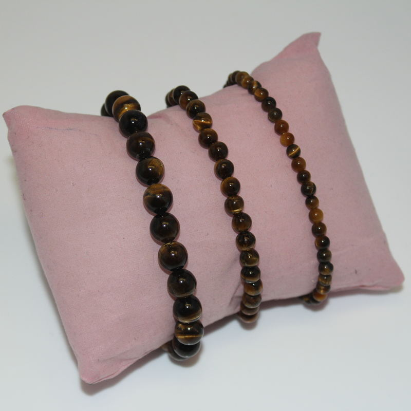 Tigers Eye Beaded Crystal Bracelet