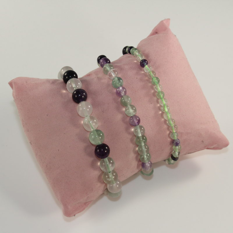 Fluorite Crystal Beaded Bracelet