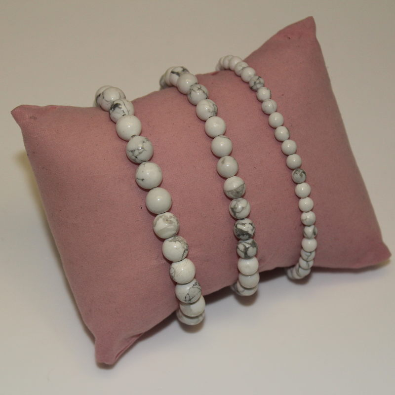 Howlite Crystal Beaded Bracelet