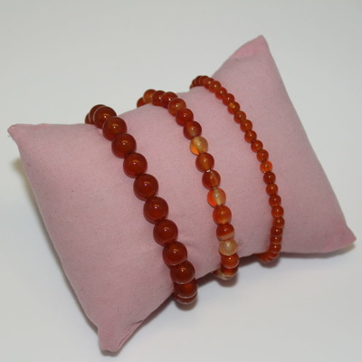 Carnelian Crystal Beaded Bracelet