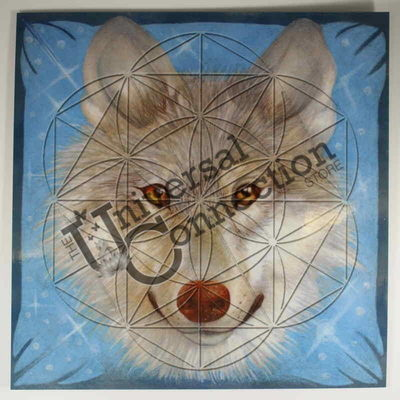 Wolf Totem Animal Crystal Grid