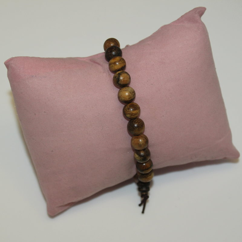 Black Pear Wood Beaded Mala Bracelet
