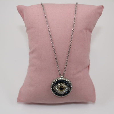 Embellished Evil Eye Pendant Necklace