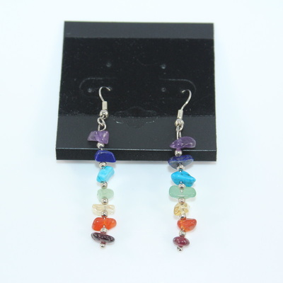 Chakra Crystal Chip Earrings