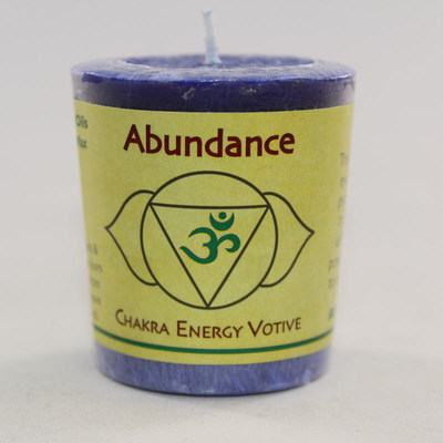 Abundance - Chakra Energy Candle - Votive 2oz