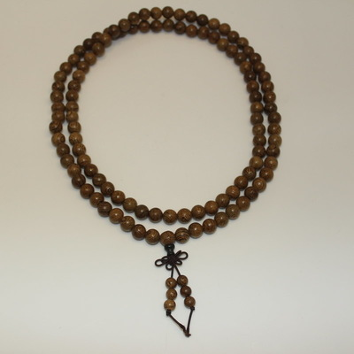Phoenix Wood Beaded Mala Necklace