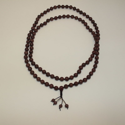 Purple Heart Wood Mala Necklace