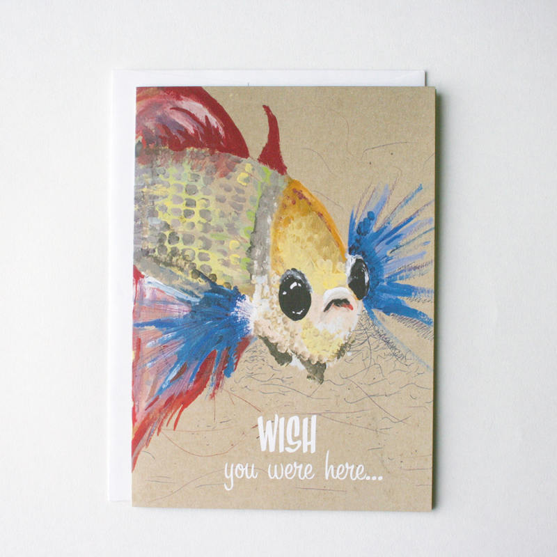 Wishing Fish Greeting Card Kit