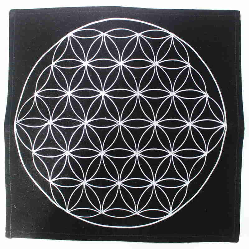 Brushed Velvet Pendulum Mat - Flower of Life
