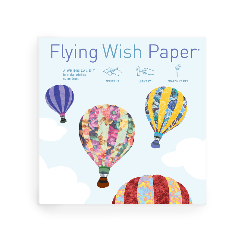Hot Air Balloons Flying Wish Paper Large Kit
