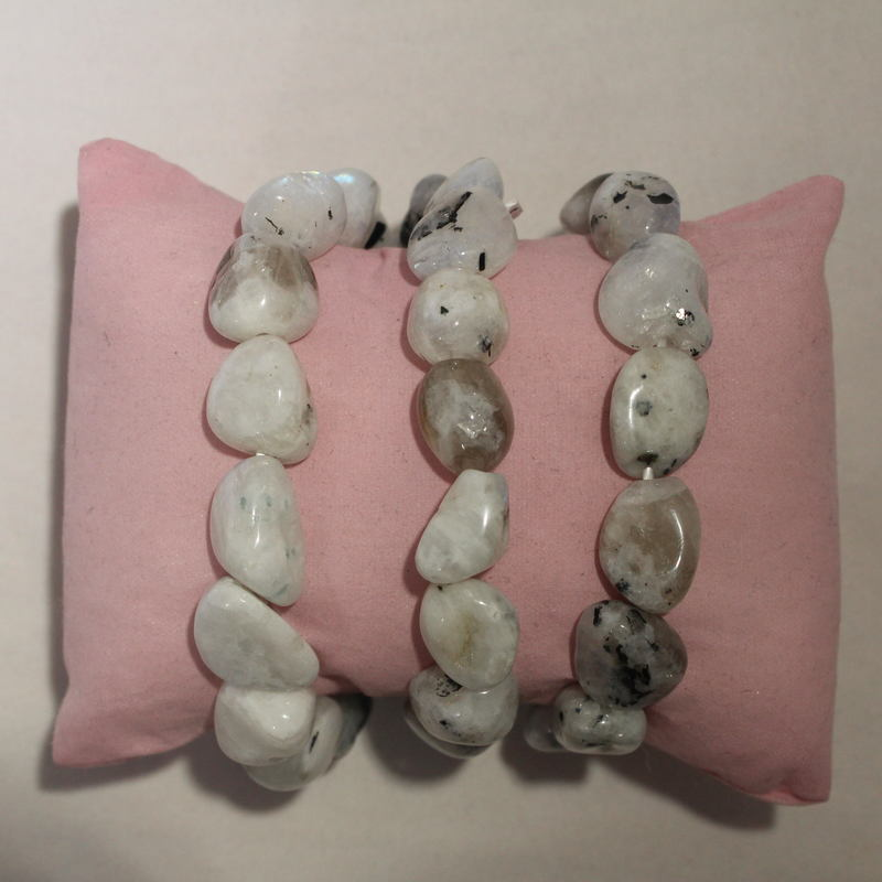 Crystal Nugget Bracelet-Moonstone