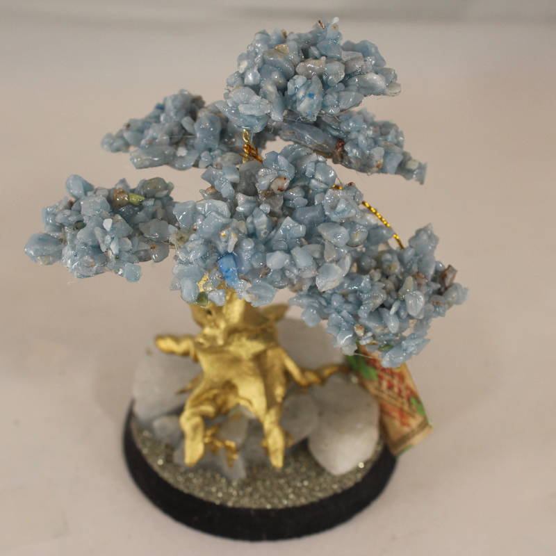 Angelite Crystal Bonsai Tree