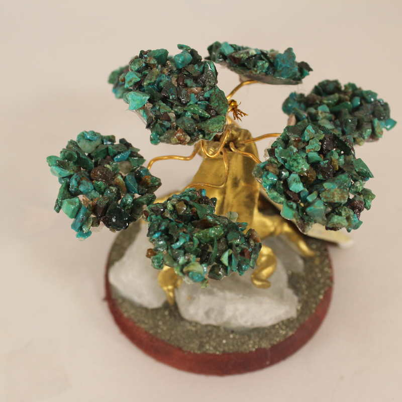 Chryscolla Crystal Bonsai Tree